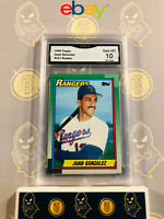 1990 Topps Juan Gonzalez #331 RC Rookie - 10 GEM MINT GMA Graded Baseball Card