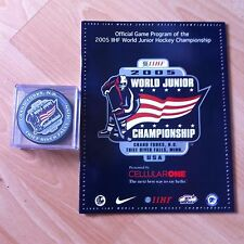 SIDNEY CROSBY 2005 WORLD JUNIOR CHAMPS -TOURNAMENT PUCK + PROGRAM