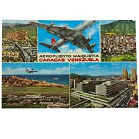 Vintage Postcard, Maiquetia Airport, Caracas, Venezuela