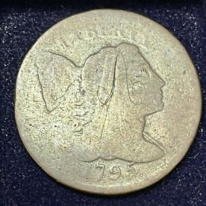 1795 Large Cent Liberty Cap Flowing Hair One Cent Circulated #34670