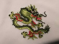 Yellow Green Black Embroidered Iron On Dragon Patch 3 In