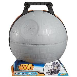 Hot Wheels Star Wars Death Star Play Case Holds up to 10 Starships Die Cast New