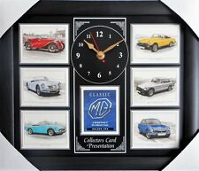 Classic MG Stunning Collector Cards Wall Clock set II