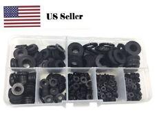 500PCS Nylon Flat Washer For M2 M2.5 M3 M4 M5 M6 M8 Screw Bolt(Black)