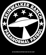 Skinwalker Ranch Paranormal Patrol Saucer Decal Sticker,Aliens,Sci Fi,UFO,Space