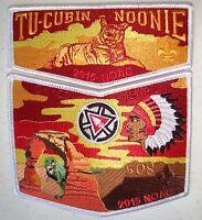OA TU CUBIN NOONIE 508 UTAH NATL PARKS 2-PATCH 100TH CENTENNIAL 2015 NOAC FLAP