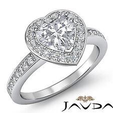 Fine Heart Shape Diamond Engagement Beautiful Ring GIA F Color SI1 Platinum 2 ct