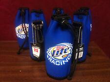 Miller Lite Racing Bottle Cooler Koozie Coozie Bottle Bag - New & F/S - Set of 6
