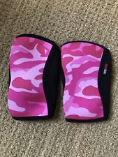 RockTape CrossFit Pink Camo Knee Caps Sleeves 5mm Weightlifting Size Large