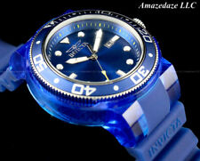 NEW Invicta Men 52mm Grand ProDiver Anatomic BLUE DIAL 100M Silicone Strap Watch