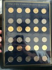 The Fifty United States Quarter Dollar Collection 1999-2004 Gold Plated Unc