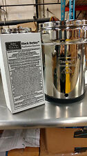Big Berkey Water Purifier System Used w/ 2 NEW BLACK BERKEY BB-9 FILTERS