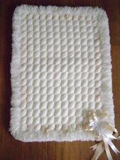 New Hand Made White Crib Blanket/Pram