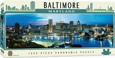 Baltimore Maryland Inner Harbor MasterPieces City scapes 1000 Piece Puzzle 39x13