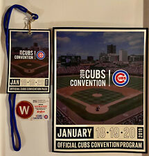 2019 CHICAGO CUBS Convention Lot - Lanyard Pass - Program - Room Key