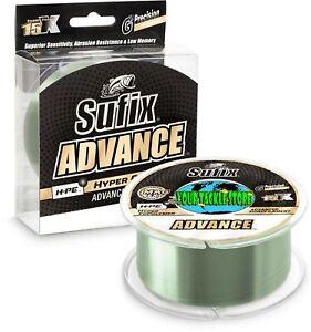 Sufix 604 Advance Monofilament H-PE Mono 330/250Yd Clear Green Neon Lime line