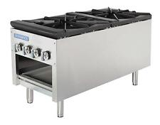 "Radiance Tasp-18-D 18""x41.5""x24&#0 34; Stock Pot Range (2) 3-Ring Burners 158K Btu"