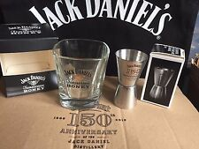 JACK DANIELS HONEY GLASS + 150th ANNIVERSARY SHOT MEASURE FROM 2016