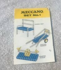 MECCANO  Instruction book  set 1