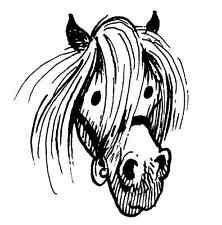 Pony Head - Thelwell pony float truck car sticker - Thell-05
