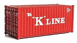 WALTHERS SCENEMASTER HO SCALE 20' CORRUGATED CONTAINER K-LINE 949-8073