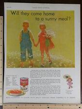 Rare OrigVTG 1932 LHJ Correct Dress Hat Fashion Campbell's Soup Ad Art Print