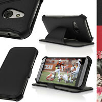 PU Leather Skin Flip Case for HTC One MINI 2 2014 M8 Mini Folio Book Stand Cover