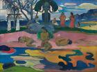 Mahana no atua (Day of the God) By Paul Gauguin Vintage Fine Art Poster