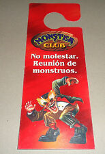 MONSTER IN MY POCKET CROMY Do Not Disturb Sign  ARGENTINA 1997 Monster Club