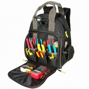 CLC Tech Gear 53 Pocket LED Lighted Tool Backpack