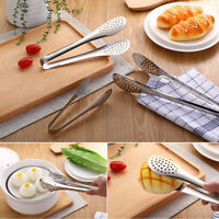 Cooking Salad Serving Barbecue BBQ Tongs Buffet Clamp Stainless Steel Food Clip