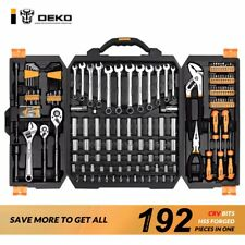 Deko 192 Pieces Hand Tool Set Tool Kit Socket Wrench Set Auto Repair Kit Wrench