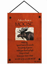 Wall Art - Advice From A Moose Wall Hanging - Lodge Decor