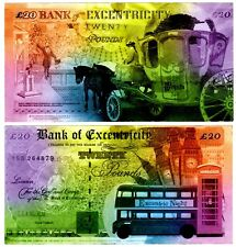 BANK OF EXCENTRICITY 20 POUNDS SO BRITISH LONDON  FANTAISIE / FANTASY