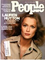 LAUREN HUTTON People Magazine May 12, 1975 with label