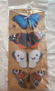 BUTTERFLY DECORATIONS ENGLISH GARDEN BUTTERFLIES CLIP ON INDOOR OR OUTDOOR USE