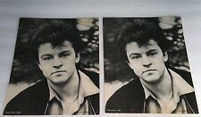 Vintage 1985 Paul Young English Singer Two (2) 8X10 B&W Photo Lot Made England