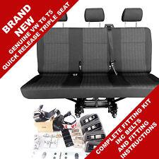NEW Genuine Volkswagen Kombi Rear Seat Triple VW Shuttle Transporter T6 T5 Pandu