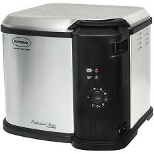 Masterbuilt Butterball Indoor Stainless Steel Large Electric Turkey Fryer Cooker