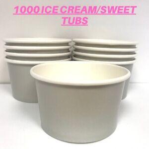 1000 NEW Grey 5 Oz Paper ice cream sweet tubs cups tasting pots Box
