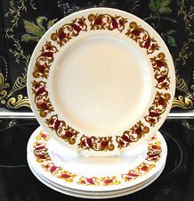 "10"" DINNER PLATES SET OF 4 IRONSTONE VINTAGE RIDGWAY RENAISSANCE"