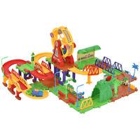 106PCS Plastic Brick Toy Electronic Building Blocks Railway Train W/ Light Music