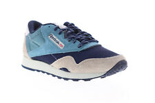 Reebok Classic Nylon MU CN7196 Mens Blue Lace Up Low Top Sneakers Shoes