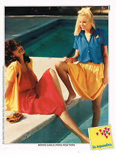 PUBLICITE ADVERTISING 015  1979  LA SQUADRA  2   tenues robes de plage