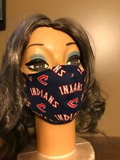 Handmade Cleveland Indians Cotton Face Mask Free U.S. Shipping