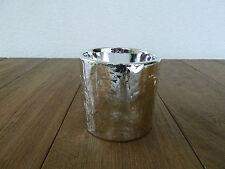 Kaheku Keramikübertopf KÜBEL CALVIS, Silber Blumenübertopf Steckgefäß