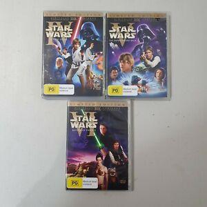 Star Wars Trilogy DVD Theatrical Limited Edition IV, V, VI Region 4 - RARE