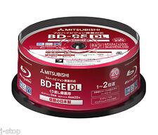 New! 20 Verbatim Bluray Discs BD-RE DL 50GB Dual Layer 2x Speed Original Spindle