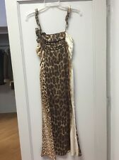 Roberto Cavalli Just Cavalli Leopard Silk Dress Sz40