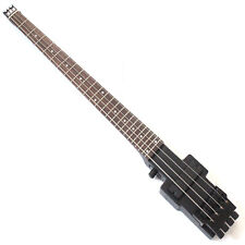 Electric travel headless bass in black color